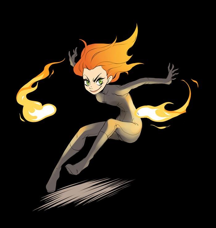 Płaskie ale dynamiczne płomienie